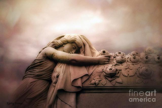 surreal-gothic-sad-angels-cemetery-mourner-at-rose-casket-coffin-haunting-surreal-angel-art-kathy-fornal
